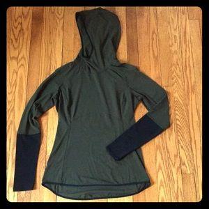 Lululemon pullover jacket green/black size 10